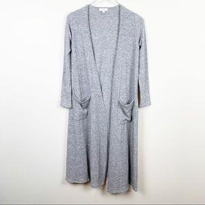 LuLaRoe | Long Gray Knit Sarah Cardigan